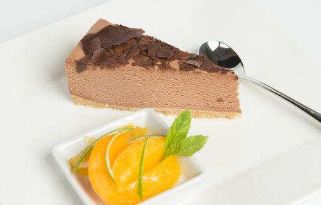 Chocolate Orange Cheesecake Plated