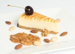 Gluten Free Baked Salted Caramel Cheesecake Plated