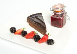 Gluten Free Chocolate Fudge Cake Plated