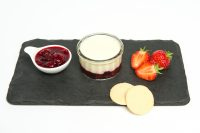 Individual Vanilla & Summer Fruit Panna Cotta Plated